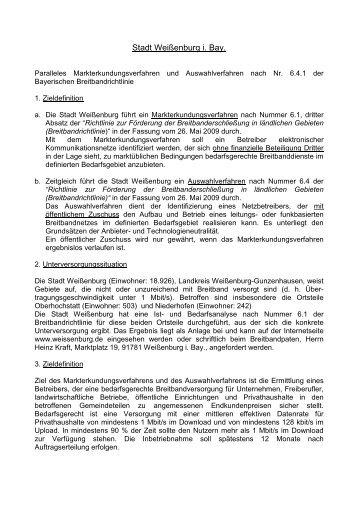 Bekanntmachungstext Weissenburg - Stadt Weißenburg