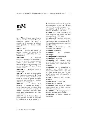 Letra M - Terra de Miranda