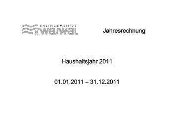 Jahresabschluss Gemeinde Weisweil 2011