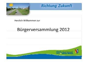 Bürgerversammlung 2012 als  PDF-Datei (3 MB)