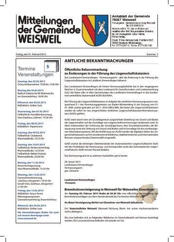 Anzeigen - Rheingemeinde Weisweil