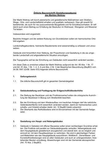 Ortsgestaltungssatzung Markt Weitnau - Gemeinde Weitnau