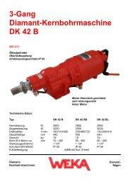 3-Gang Diamant-Kernbohrmaschine DK 42 B - WEKA ...