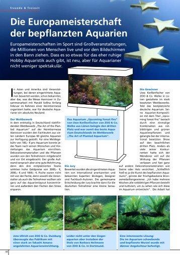 Die Europameisterschaft der bepflanzten Aquarien 2 Seiten, 2.62