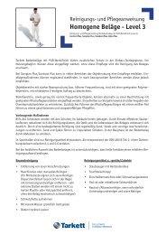 Homogene Beläge - Level 3 - Tarkett - Tarkett Holding GmbH