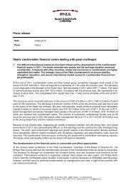 Press release Stable Liechtenstein financial centre dealing with ...