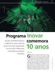 Programa Inovar comemora 10 anos - Finep