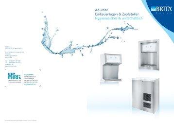 Aquarite Einbauanlagen & Zapfstellen Hygienesicher ... - wemed.net
