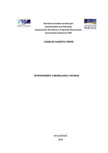 introduzindo a imunologia vacinas - Secretaria de Estado da ...
