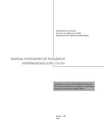 Manual Integrado de Vigilância Epidemiológica da Cólera