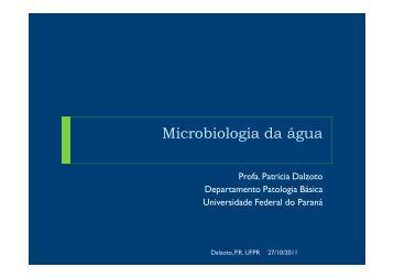 Microbiologia da água - Universidade Federal do Paraná