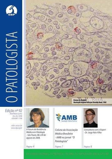 Edição nº 92 - Sociedade Brasileira de Patologia