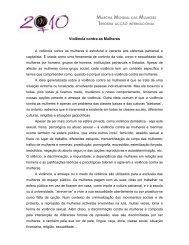 Violência contra as Mulheres - UMAR