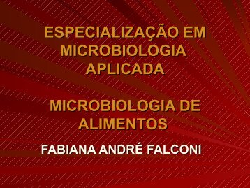 Microbiologia de Alimentos - Unioeste