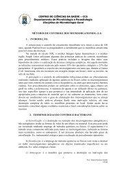 Metodos de controle dos microorganismos - UFSM