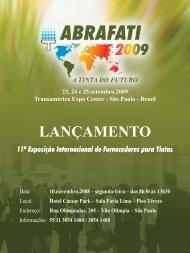 11ª Exposição Internacional de Fornecedores para Tintas - Abrafati