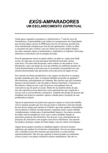 Exús Amparadores - Um esclarecimento Espiritual ... - Jmh.xpg.com.br