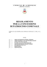 Regolamento per la concessione di patrocinio comunale