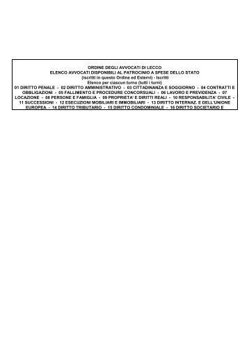 Patrocinio a spese dello Stato - Ordine degli Avvocati di Lecco