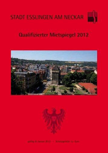Mietspiegel Esslingen 2012