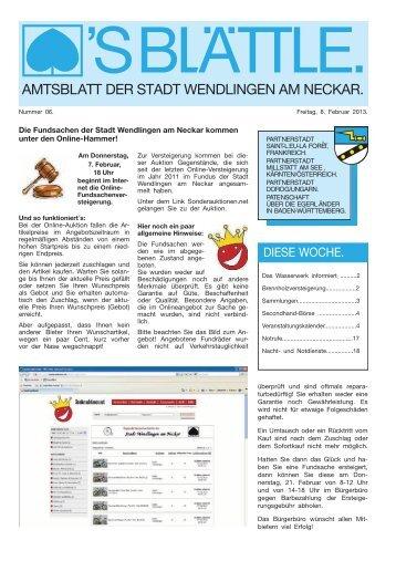 Ausgabe Nr. 6 vom 08. Februar 2013. - Stadt Wendlingen