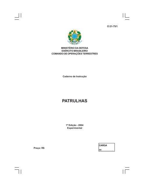 1e24dc602c patrulhas - Doutrina Militar