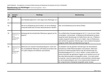 Rückfragenbeantwortung Block 3 - Stand 23.11.2012 - Wenzel ...