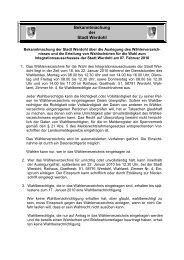 Bekanntmachung Einsicht Wählerverzeichnis - Werdohl
