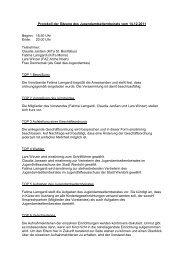 Protokoll der Sitzung des Jugendamtselternbeirats vom ... - Werdohl