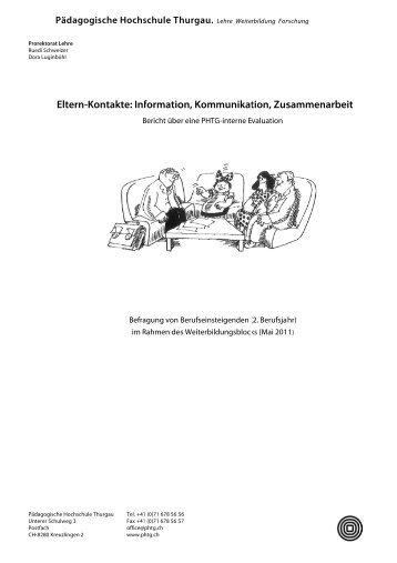 Elte ern-Kont takte: In formatio on, Kom munikat tion, Zus sammen ...