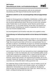 FWI-Position - Fachverband Werkzeugindustrie eV