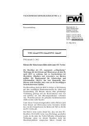 Normgerechte Bürsten für Motorsensen fallen nicht unter EU-Verbot