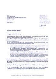 Herrn Franz Müntefering Vorsitzender der SPD-Bundestagsfraktion ...