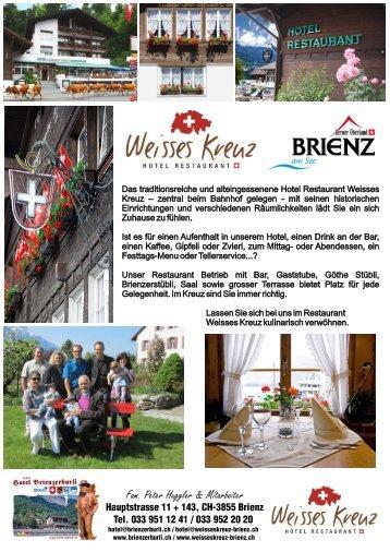 Fam. Peter Huggler & Mitarbeiter - Hotel Weisses Kreuz