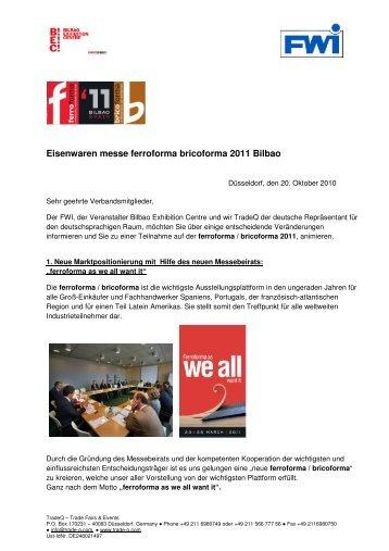 FWI Gruppenbeteiligung auf der ferroforma 2011 - Fachverband ...