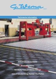 Industriebodensysteme Produktbereiche NICOCYL - G. Werna GmbH