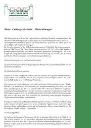 WERNEBURG IMMOBILIEN miete: Zulässige miethöhe ...