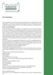 WERNEBURG IMMOBILIEN Wirtschaftsplan