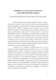 experiência e linguagem na poesia de carlos drummond de andrade