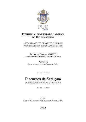 discursos da sedução: publicidade, retórica e narrativa - PUC-Rio