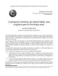 A perspectiva histórica da subjetividade - Psicología para América ...