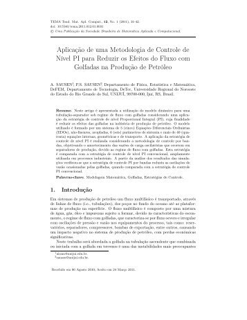 Aplicação de uma Metodologia de Controle de Nível PI ... - sbmac