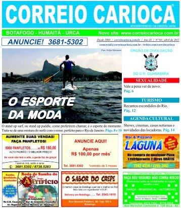 edição #86 - abril 2011 O Esporte da Moda - correio carioca