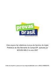 Químico - Prefeitura de São Bernardo do Campo/SP 2007 ... - 1