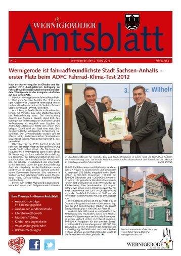 Amtsblatt Stadt Wernigerode  02 - 2013 (4.85 MB)