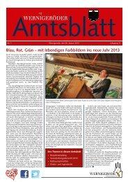 Amtsblatt Stadt Wernigerode  01 - 2013 (3.99 MB)