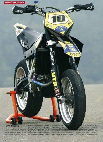 Jahrestest Drift: VTR Racing Aprilia SXV 550