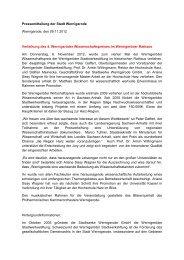 Pressemitteilung der Stadt Wernigerode Wernigerode, den 09.11 ...