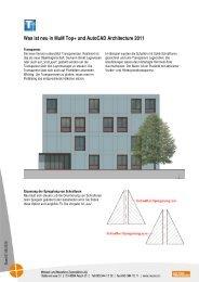 Was ist neu in MuM Top+ und AutoCAD Architecture 2011