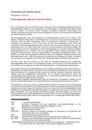 Pressemitteilung der Stadt Wernigerode